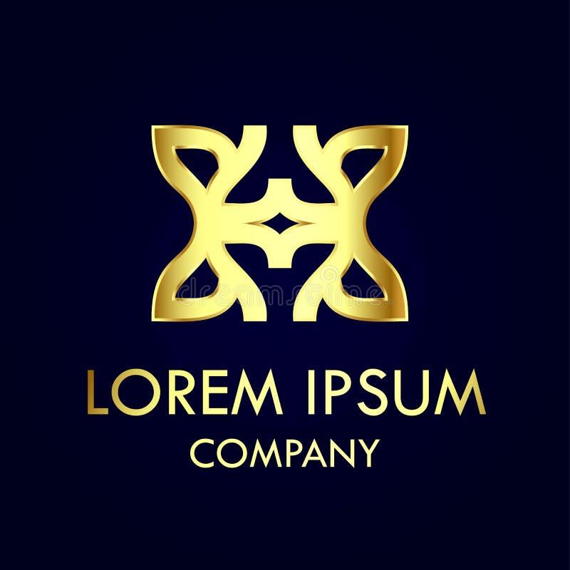 Abstrakt guld- logo vektor illustrationer