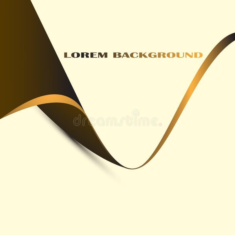Abstrakt guld och brunt f?r bakgrund vektor illustrationer