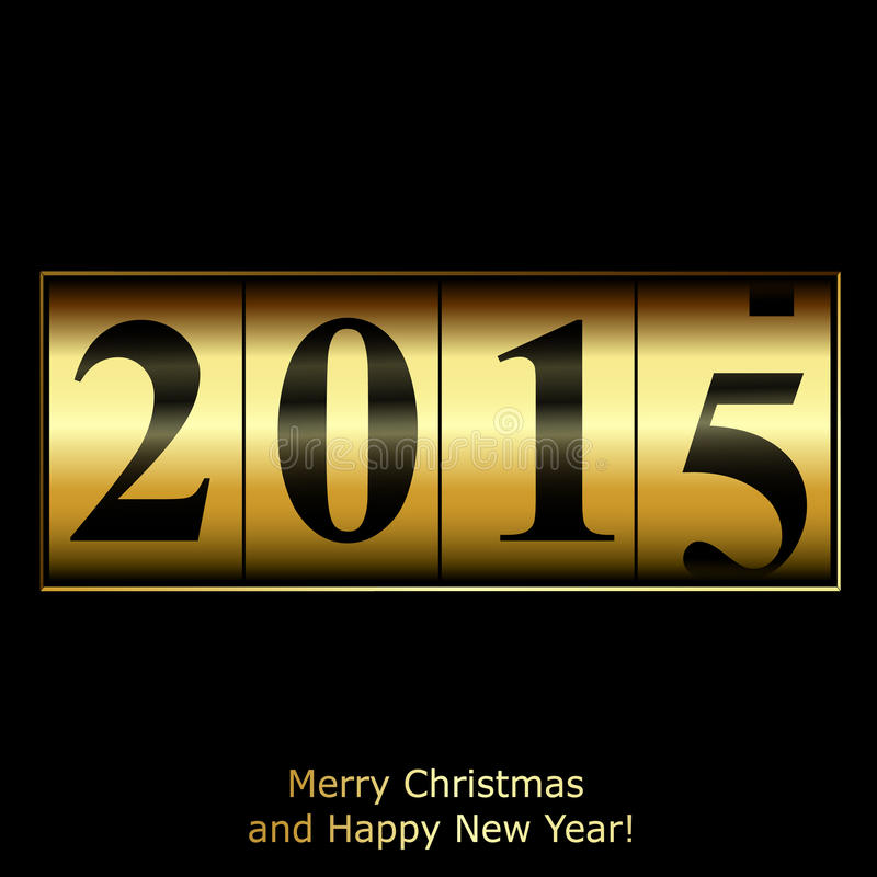 Abstrakt guld- räknare för nytt år royaltyfri illustrationer
