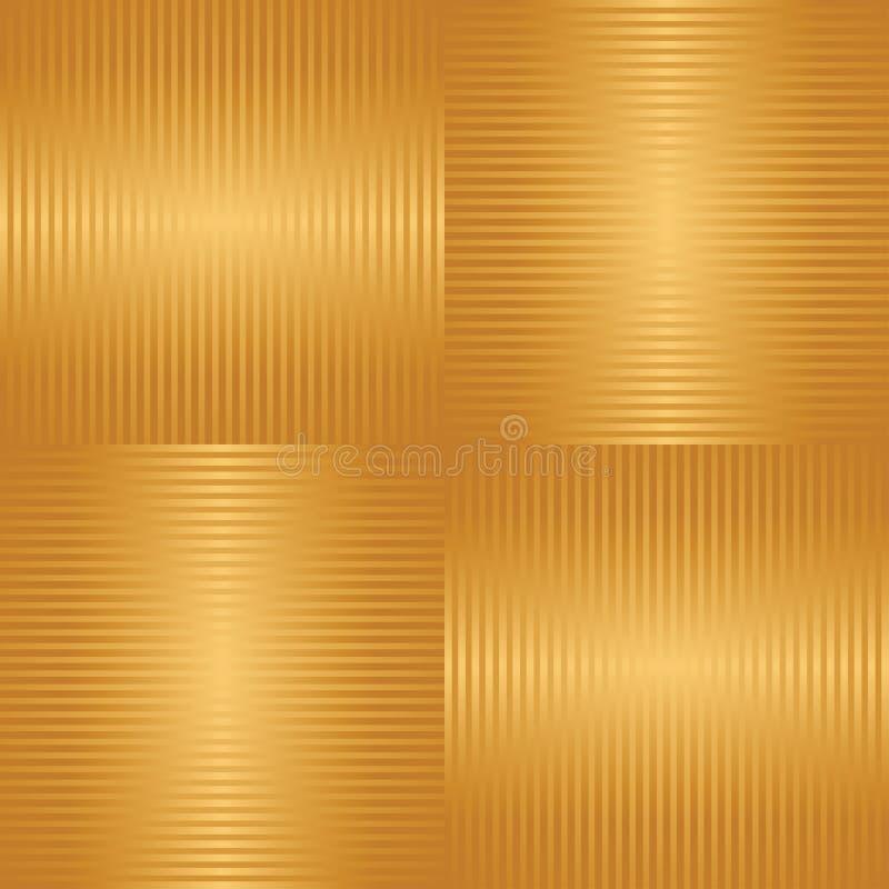 Abstrakt guld- randig sömlös bakgrund stock illustrationer