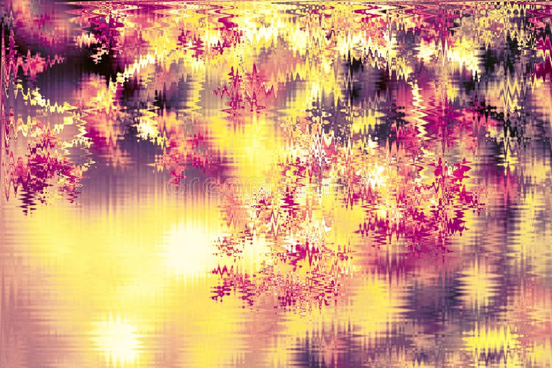 Abstrakt guld- skinande defocused bakgrund Glödande bakgrund med bokehstil för säsongsbetonade hälsningar arkivbild