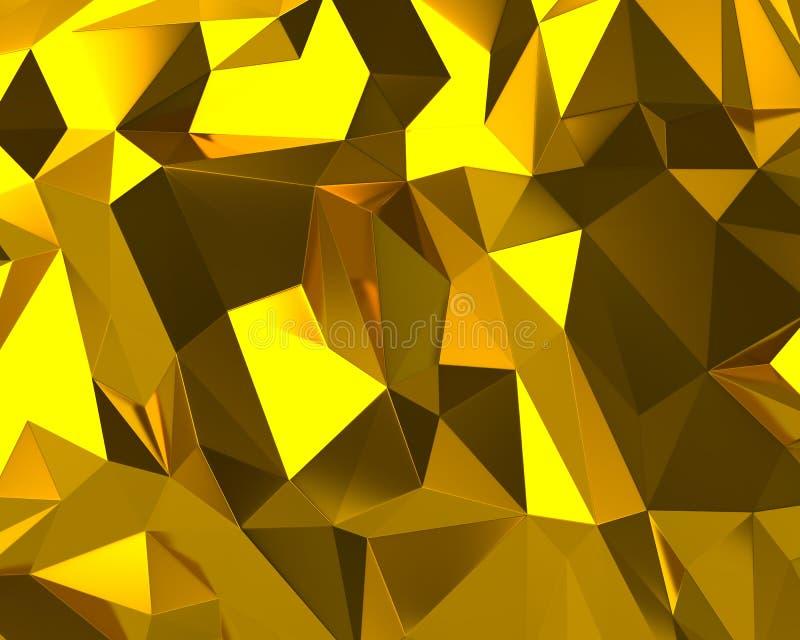 Abstrakt guld- triangeltextur vektor illustrationer