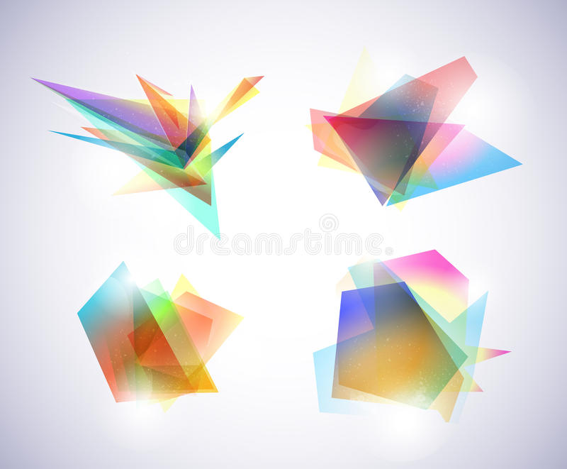 abstrakt gulgocze kolorowego royalty ilustracja