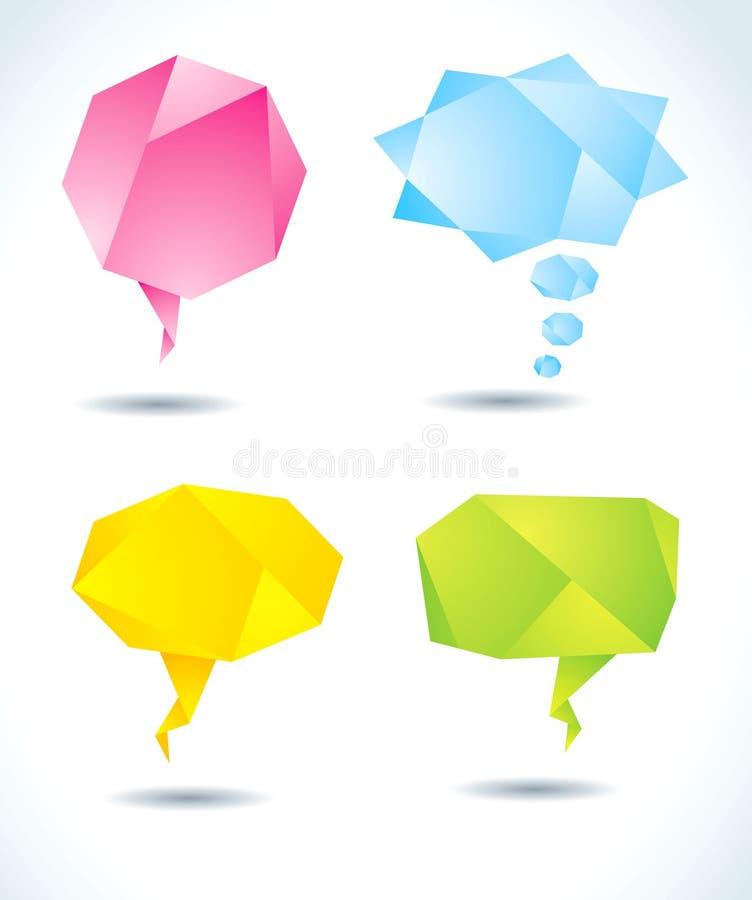 abstrakt gulgocze kolorowego origami ilustracja wektor