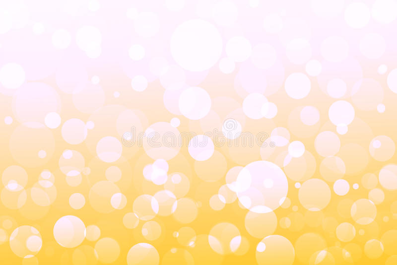 Abstrakt guling, apelsin, guld- ljus, bokehbakgrund royaltyfri illustrationer