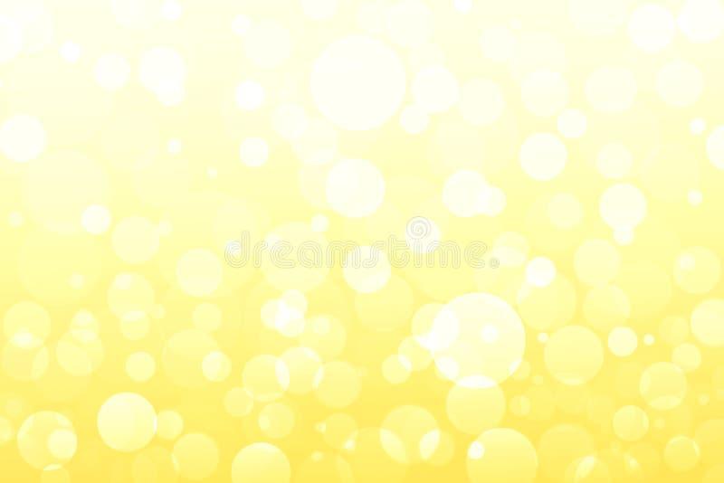 Abstrakt guling, guld- ljus, bokehbakgrunder vektor illustrationer