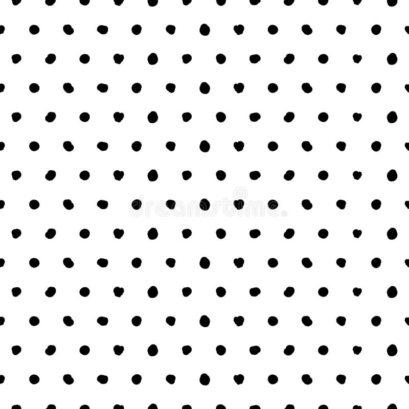 Abstrakt gullig bakgrund f?r vektor med svarta prickar royaltyfri illustrationer