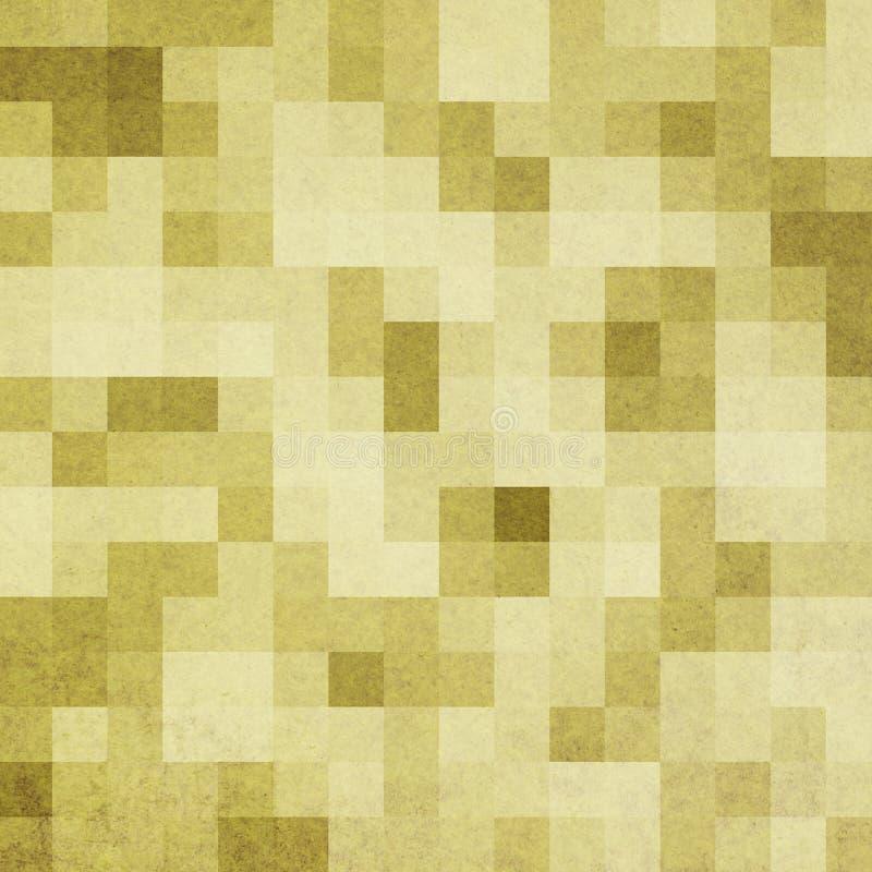 Abstrakt gult bakgrundsaffärskort Vågband, designbeståndsdel royaltyfri illustrationer