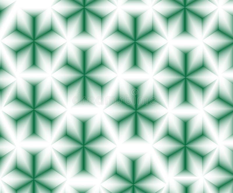 Abstrakt gwiazd zielony wzór ilustracja wektor