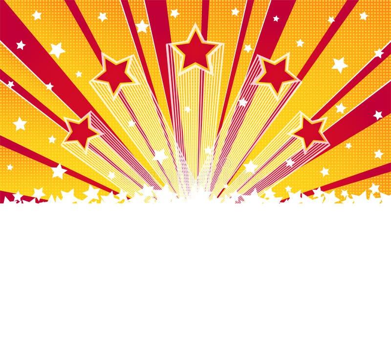 Abstrakt gwiazdy wybuchu tło Halftone wektoru tło ilustracja wektor