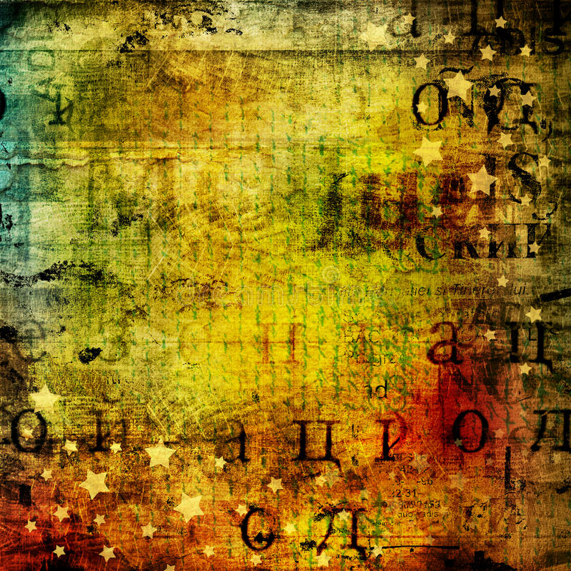 Abstrakt härlig bakgrund i stilen av blandat massmedia stock illustrationer