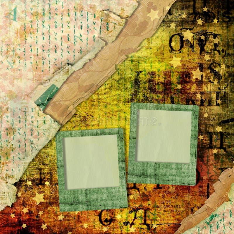 Abstrakt härlig bakgrund i stilen av blandat massmedia vektor illustrationer