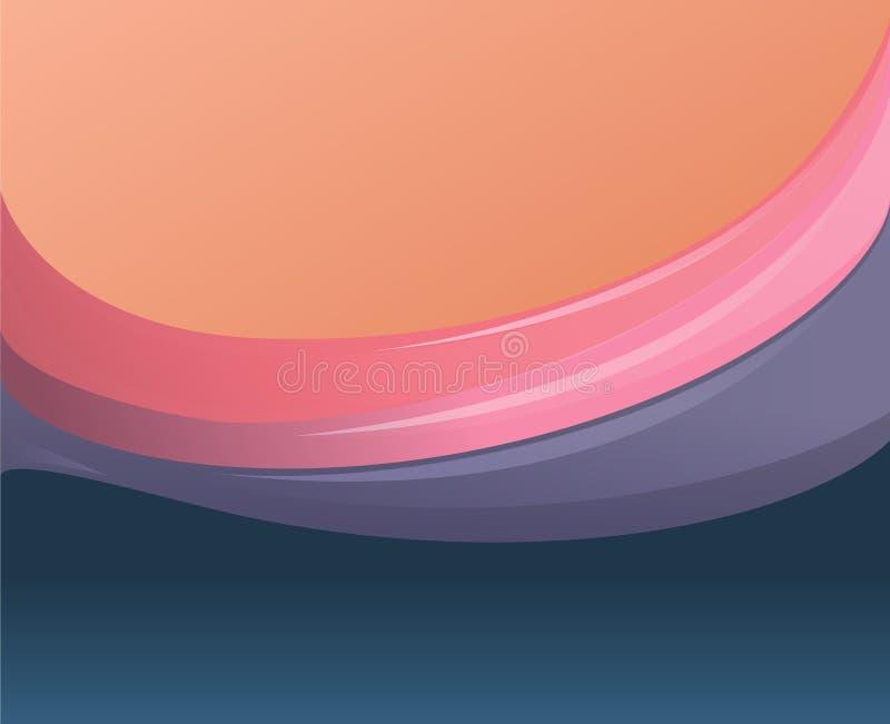 Abstrakt härlig bakgrund med mångfärgade vågor vektor royaltyfri illustrationer