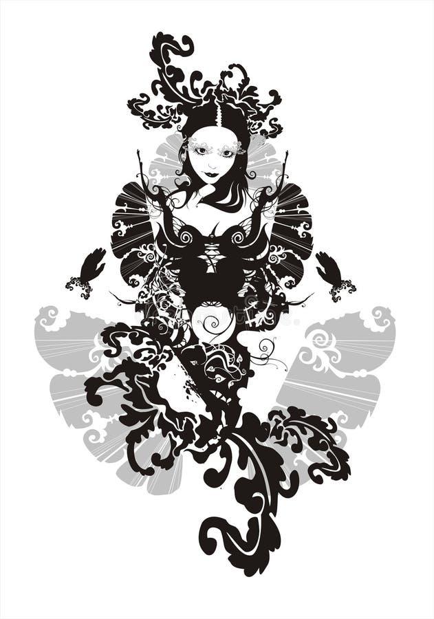 abstrakt härlig flicka royaltyfri illustrationer