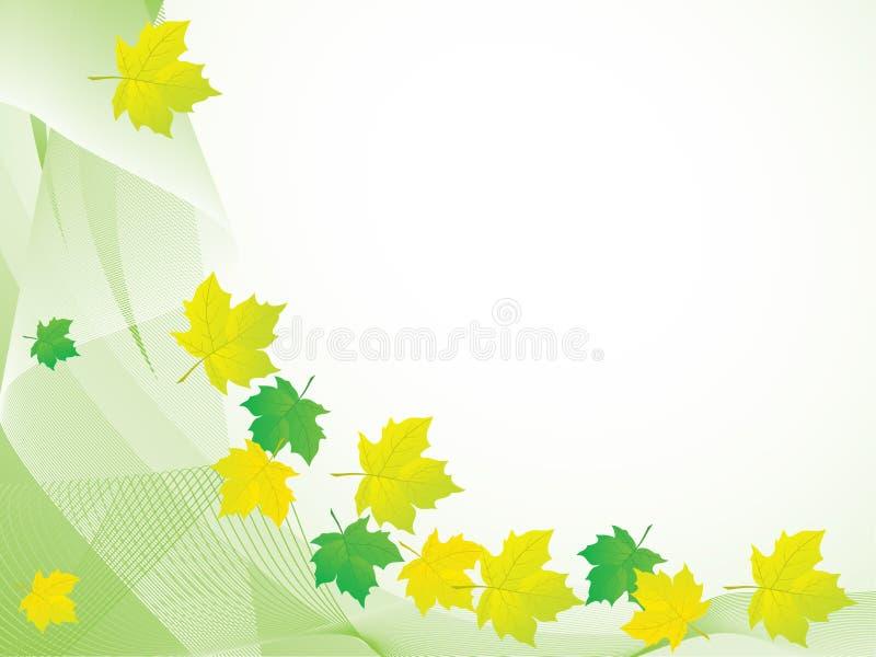 abstrakt höstbakgrundsleaves vektor illustrationer