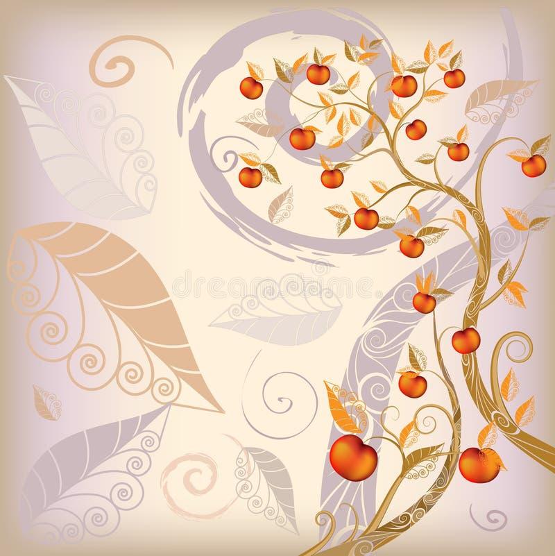 abstrakt höstbakgrundstree royaltyfri illustrationer