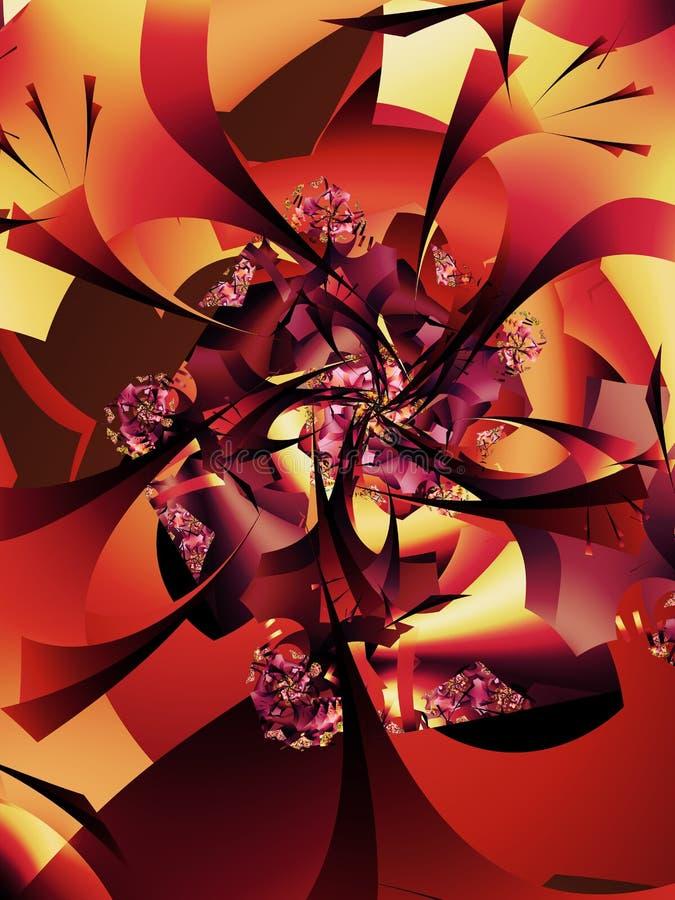 Abstrakt höstlig trädmodell stock illustrationer