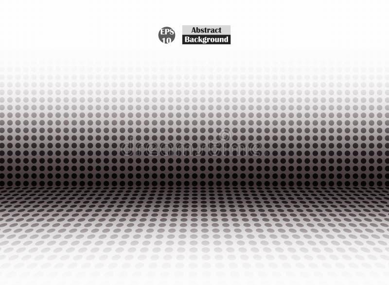 Abstrakt halftone czerni kropka pusta perspektywa, prosta prezentacja ilustracja wektor