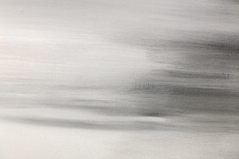 Abstrakt hand målad bakgrund för grungekanfasgrå färger royaltyfria bilder