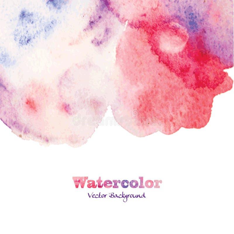 Abstrakt hand målad vattenfärgbakgrund stock illustrationer