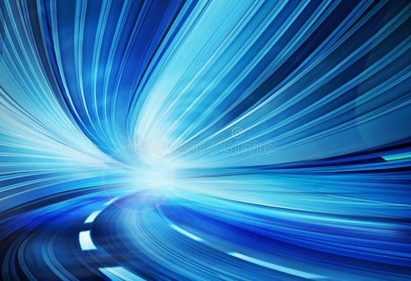 abstrakt hastighet för huvudvägrörelseväg stock illustrationer
