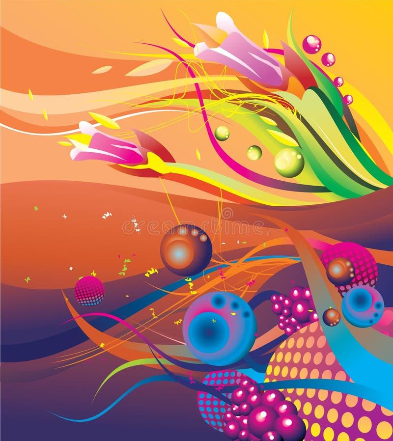abstrakt hav under royaltyfri illustrationer