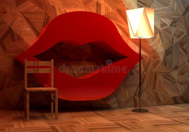 Abstrakt hemmiljö royaltyfri illustrationer