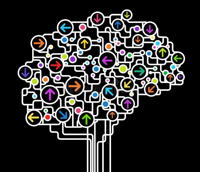 Abstrakt hjärna stock illustrationer