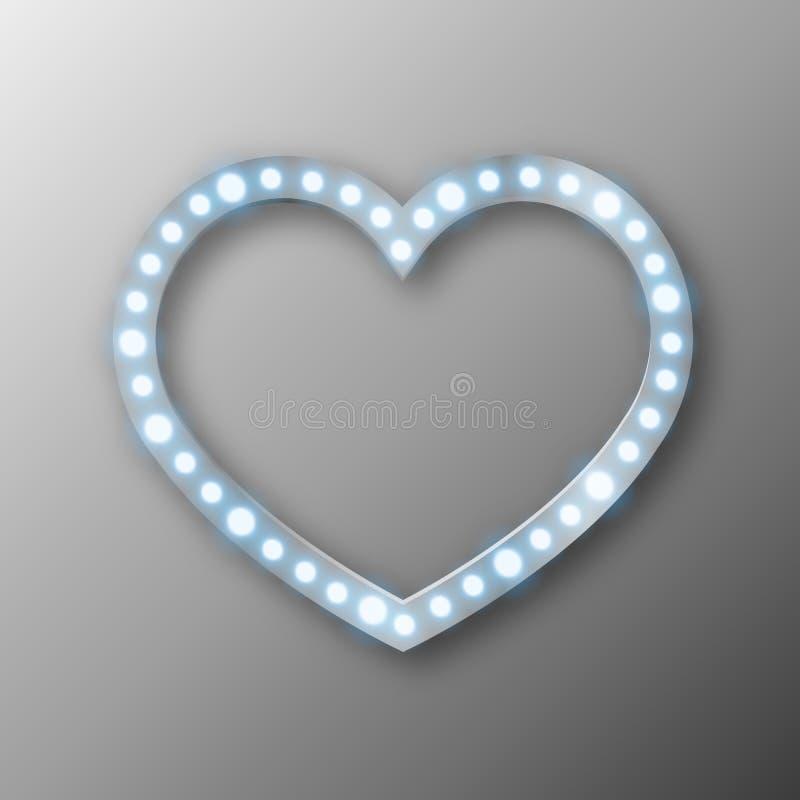Abstrakt hjärta med ljus stock illustrationer