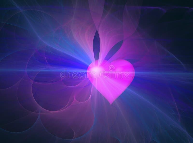 Abstrakt hjärtaaura vektor illustrationer