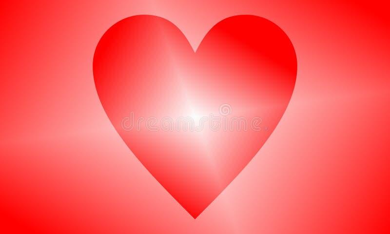 Abstrakt hjärtaformöversikt också vektor för coreldrawillustration Röd hjärtasymbol i plan stil Hjärtan som ett symbol av förälsk royaltyfri illustrationer