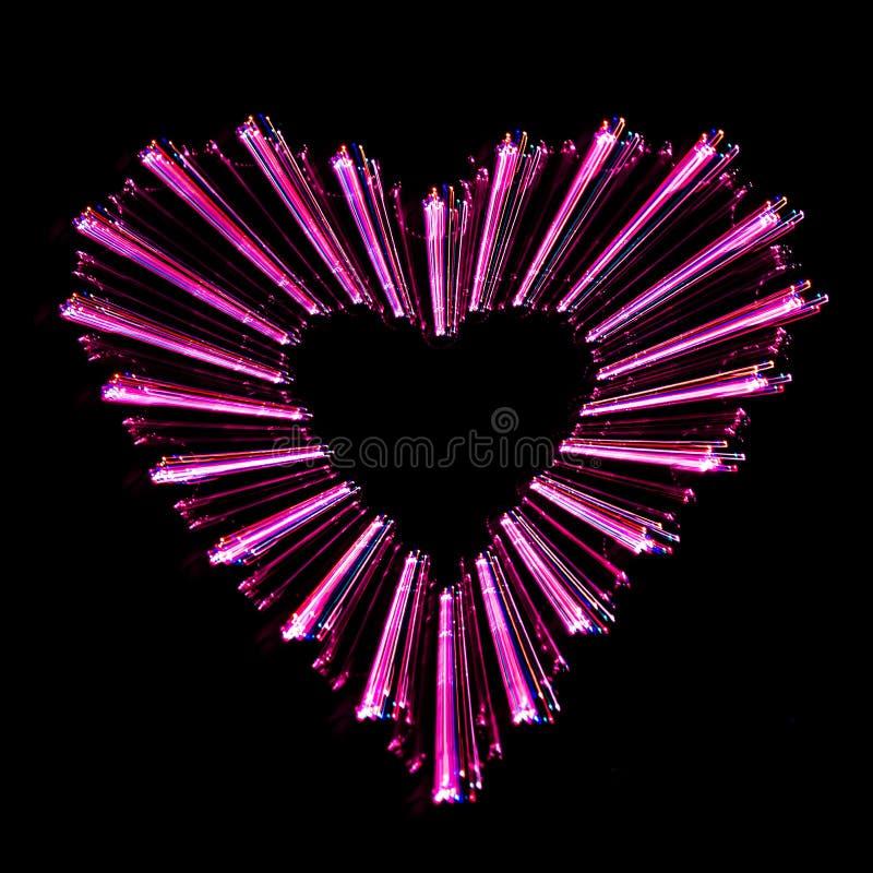 abstrakt hjärtaform arkivfoto