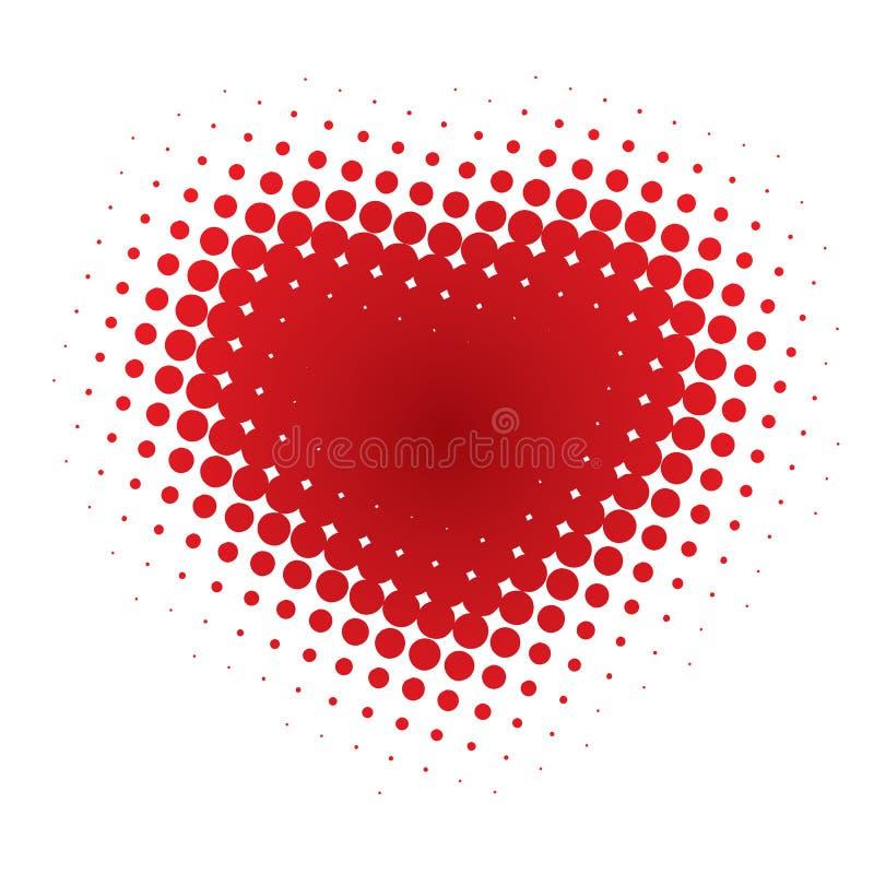 abstrakt hjärtaillustration royaltyfri illustrationer