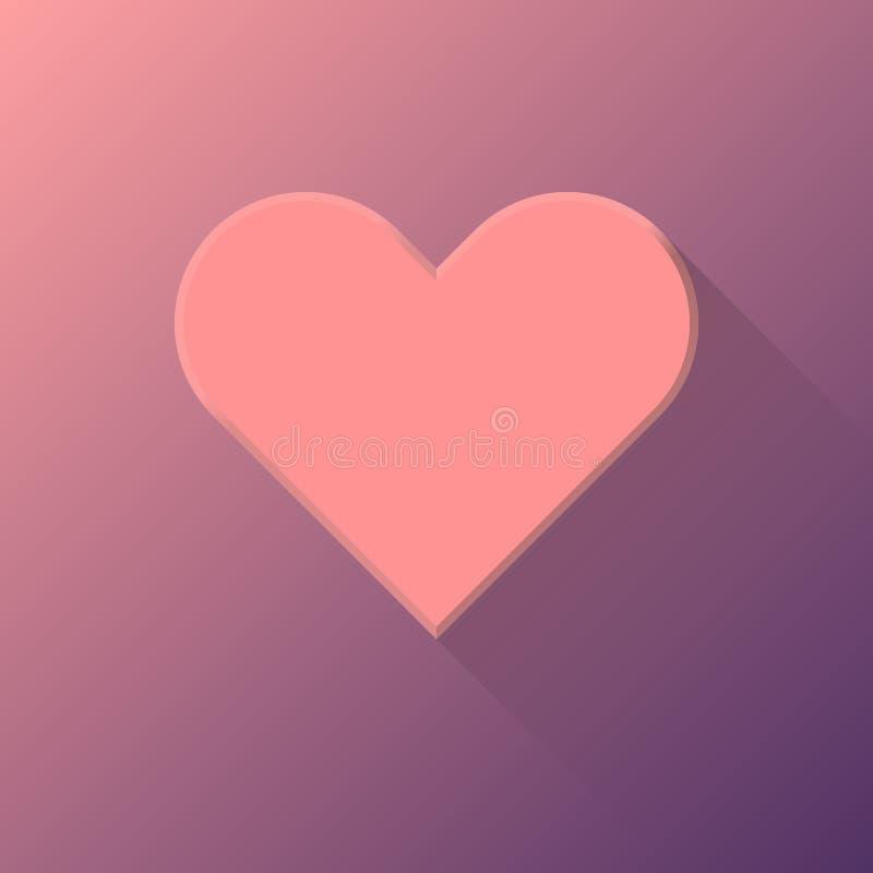 Abstrakt hjärtatecken för rosa färger stock illustrationer
