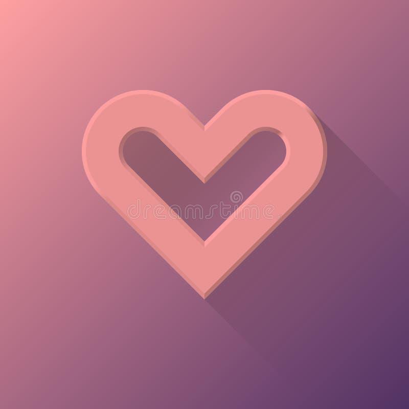 Abstrakt hjärtatecken för rosa färger royaltyfri illustrationer