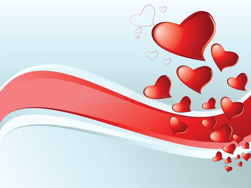 abstrakt hjärtor vektor illustrationer