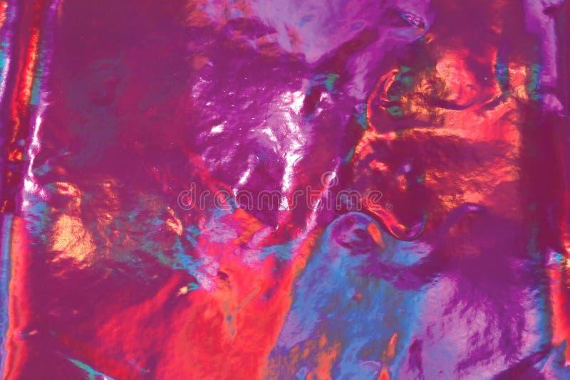 Abstrakt holographic bakgrund för färgrik fantasi royaltyfri bild