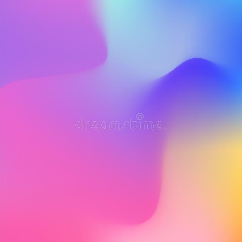 Abstrakt Holographic bakgrund i pastellfärgad neonfärgdesign suddig tapet Vektorillustration för ditt modernt vektor illustrationer