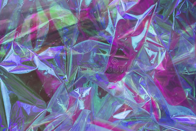 Abstrakt holographic bakgrund i stilen av 80-tal Modern design f?r vaporwave Rektangel-, fyrkant- och cirkelformer Regnb?gsskimra fotografering för bildbyråer