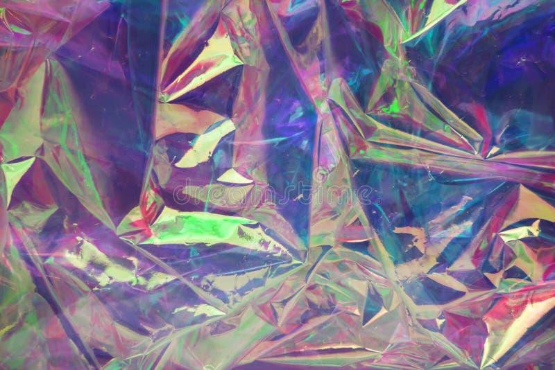 Abstrakt holographic bakgrund i stilen av 80-tal Modern design f?r vaporwave Rektangel-, fyrkant- och cirkelformer Regnb?gsskimra royaltyfria foton