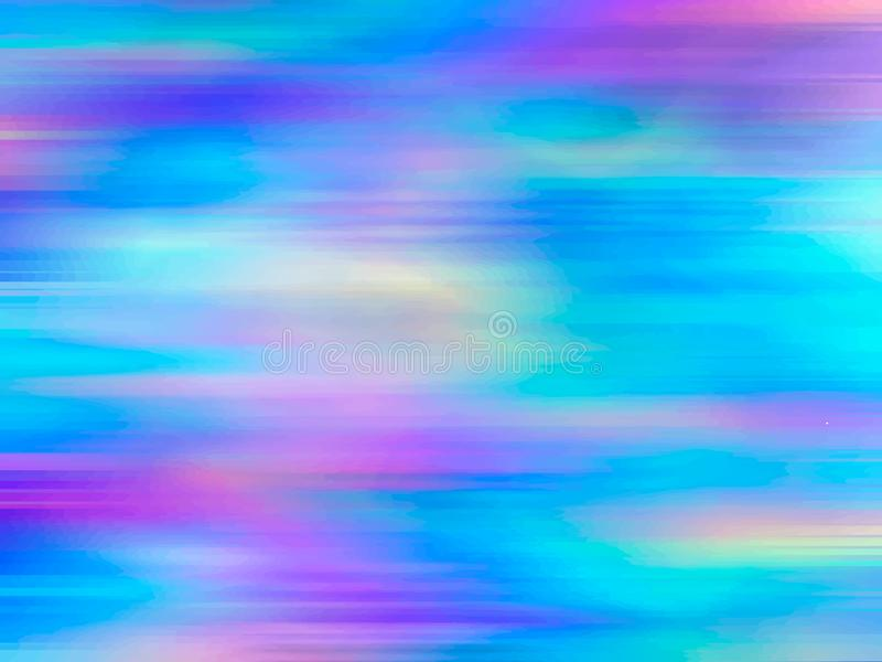 Abstrakt holographic bakgrunds80-tal för vektor - 90-tal, moderiktig färgrik textur i pastell, neonfärgdesign malldesign vektor illustrationer