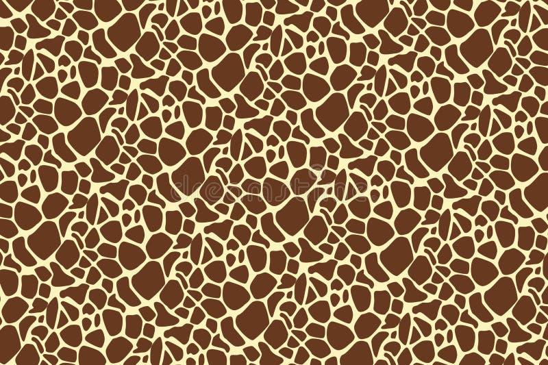 Abstrakt huddjur på brun bakgrund vektor illustrationer