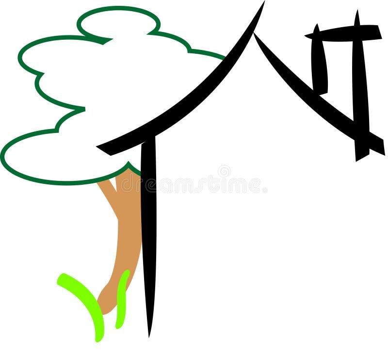 abstrakt hus stock illustrationer