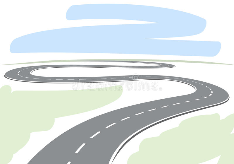 Abstrakt huvudväg stock illustrationer