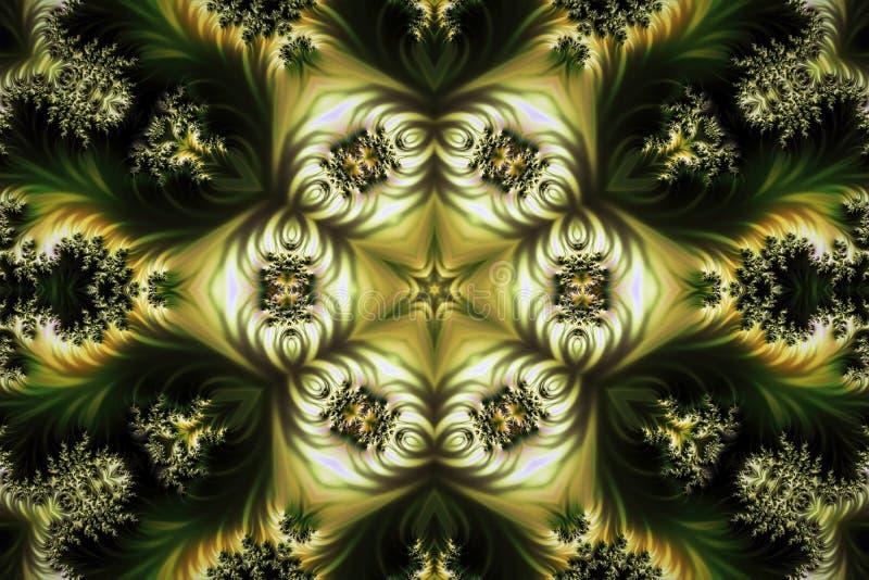 Abstrakt idérik bakgrund med stjärnan som skapas från fractals royaltyfri illustrationer