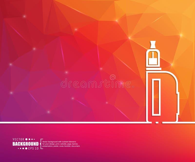 Abstrakt idérik begreppslinje attraktionbakgrund för rengöringsduk, mobil app, illustrationmalldesign, infographic affär, pag stock illustrationer