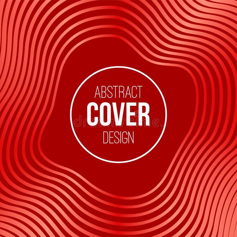 Abstrakt idérik begreppsorienteringsmall Band vågor i röda pastellfärgade färger Det kan vara nödvändigt för kapacitet av designa vektor illustrationer