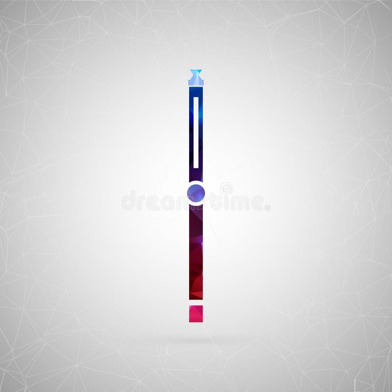 Abstrakt idérik begreppssymbol av cigaretten För rengöringsduken och mobilinnehållet som isoleras på bakgrund, ovanlig malldesign royaltyfri illustrationer