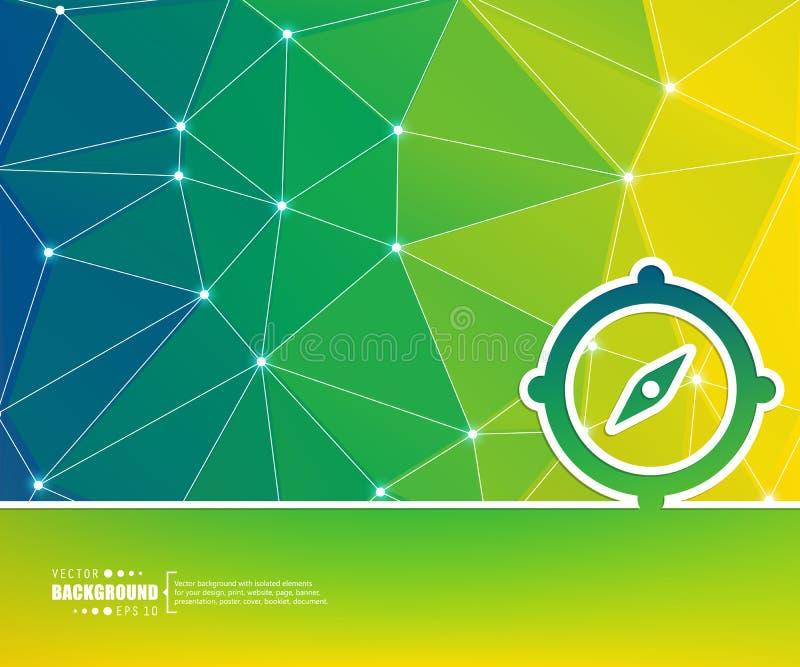 Abstrakt idérik begreppsvektorbakgrund För rengöringsduk- och mobilapplikationer illustrationmalldesign, affär vektor illustrationer