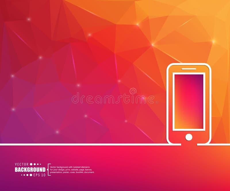 Abstrakt idérik begreppsvektorlinje attraktionbakgrund för rengöringsduk, mobil app, illustrationmalldesign, infographic affär, p royaltyfri illustrationer